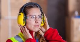 Gehörschutz bei der Arbeit
